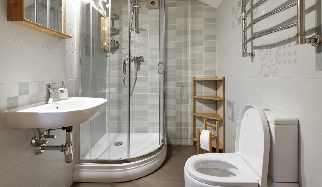 optimize space in a small bathroom